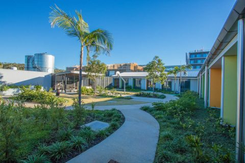 Sunshine Coast University Hospital Mental Health Unit Courtyard